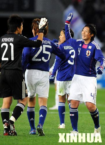 女足东亚四强赛:中国队负于日本队